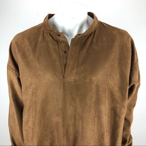Zero Restriction Suede Feel Golf Snap Pullover XL